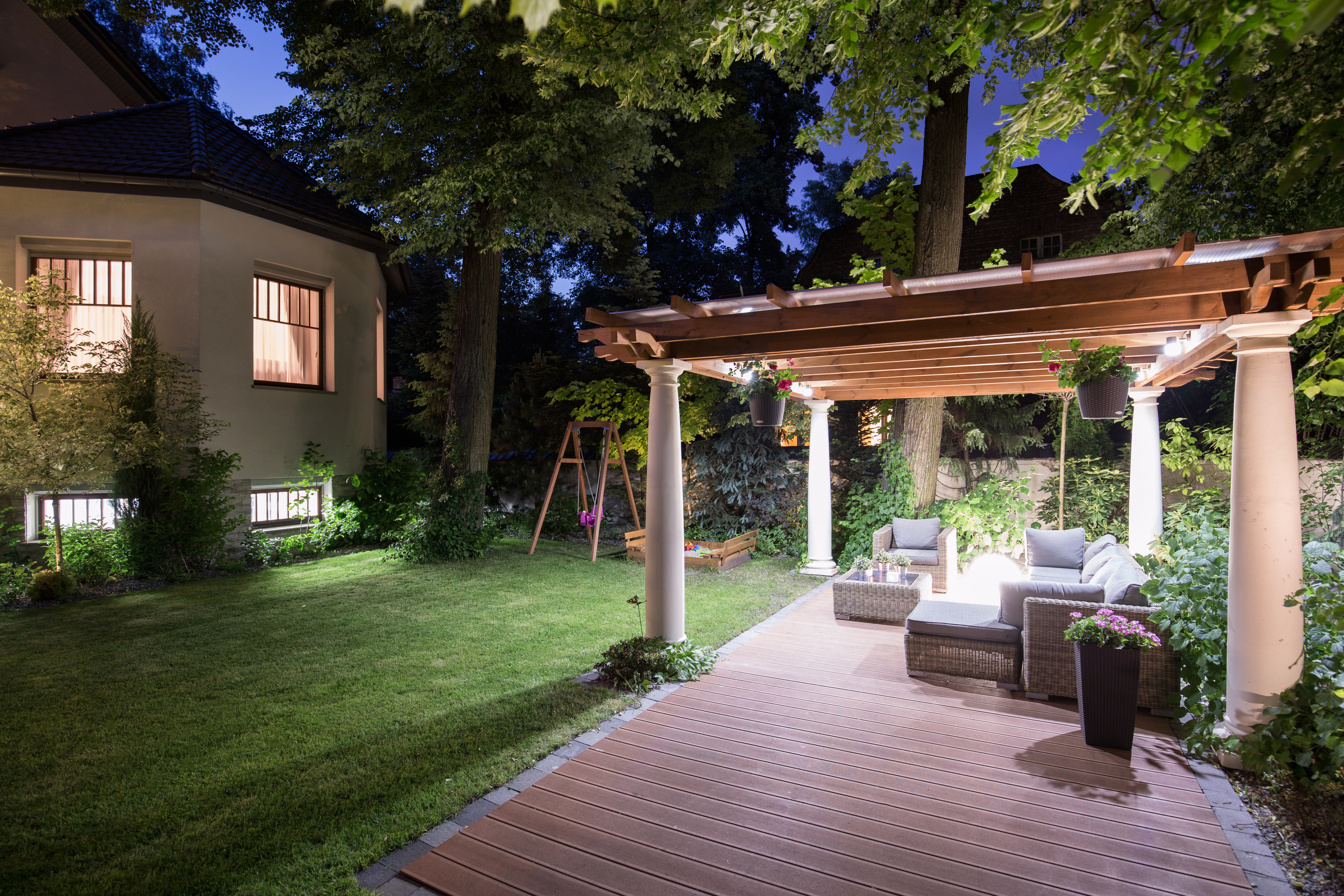 keep shining after dark with great outdoor lighting chandler